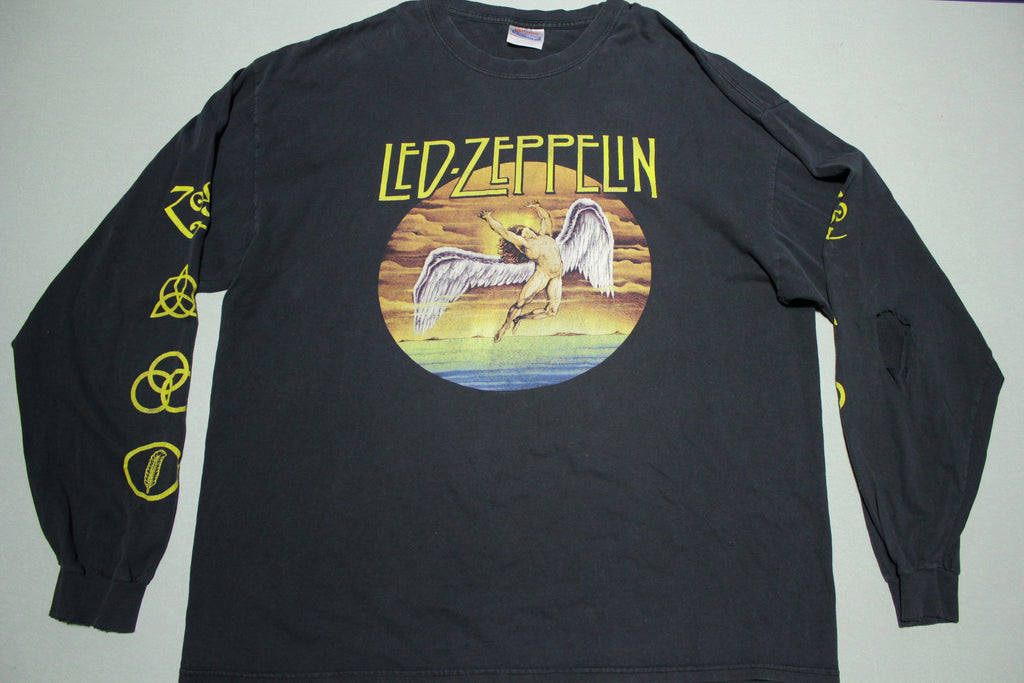 Led Zeppelin 2004 Swan Song Zoso Distressed Long Sleeve T-Shirt