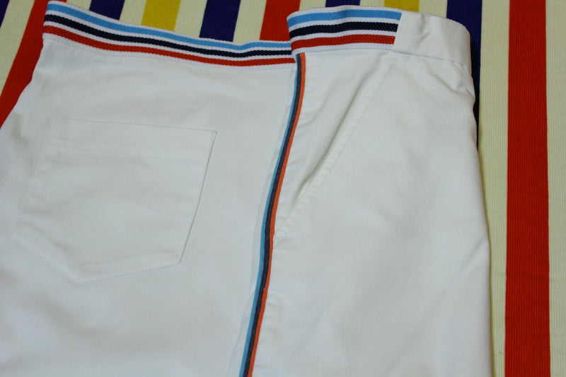 1980's Vintage Sprint Striped Tennis Shorts. White Men's XL