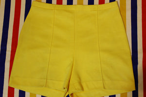 Catalina Made In USA Yellow Vintage Shorts. Women's Size XL