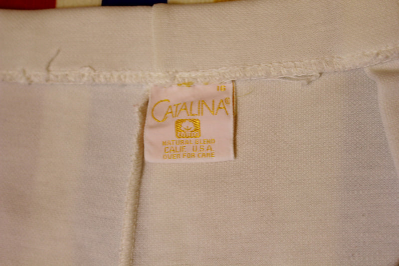 Catalina Made In USA White Vintage Shorts. Women's Size 2XL
