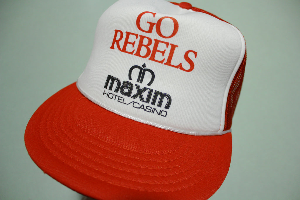 Go Rebels Las Vegas Maxim Casino Vintage 80's Adjustable Back Snapback Hat