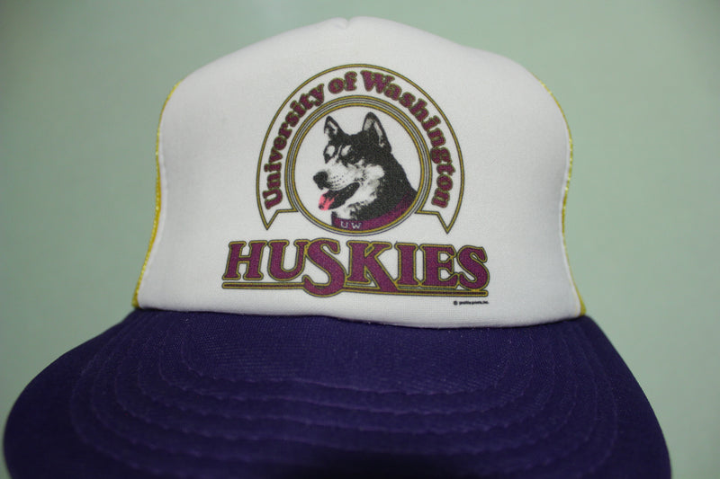 University of Washington Huskies Vintage 80's Adjustable Back Snapback Hat