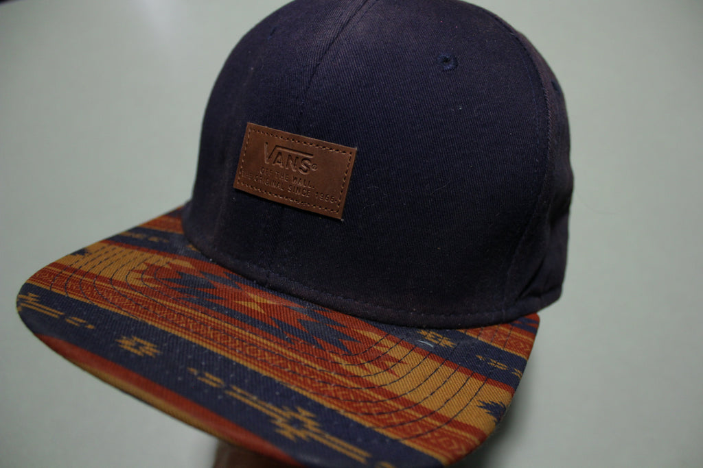 Vans Skate Aztec Southwestern Bill Vintage 00's Adjustable Back Snapback Hat