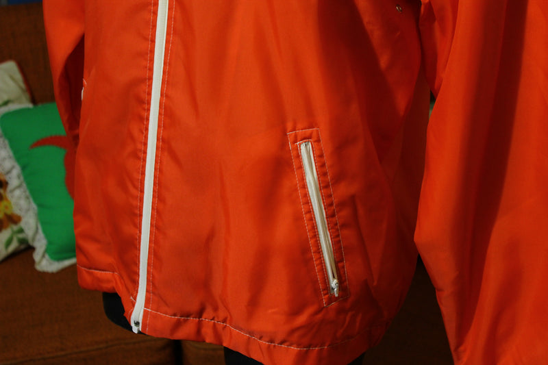 New Northernaire Sports Wear Red Vintage 1970's Windbreaker Jacket.