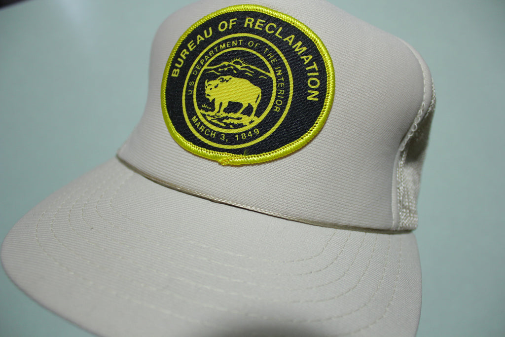 Bureau of Reclamation Buffalo Patch Vintage 80's Adjustable Back Snapback Hat