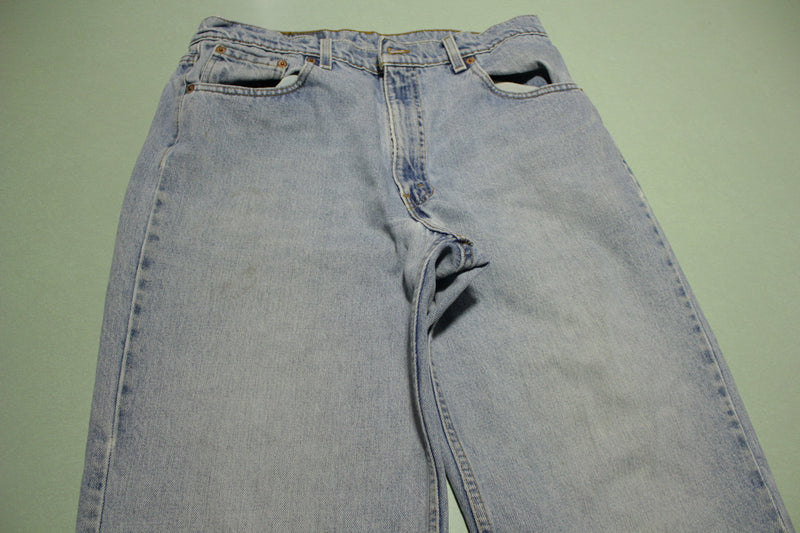 90s Levis 555 Relaxed Fit Straight Leg Jeans. Vintage Grunge Punk Made in USA 34x34