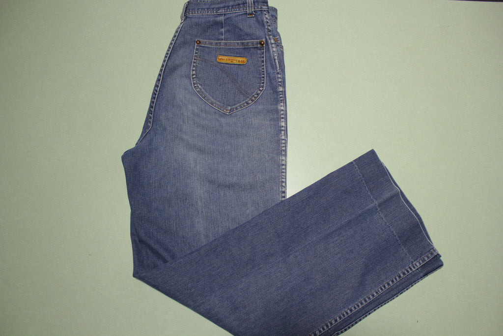 Levis Vintage 80's Strauss & Co. Leather Patch Faded Denim Jeans