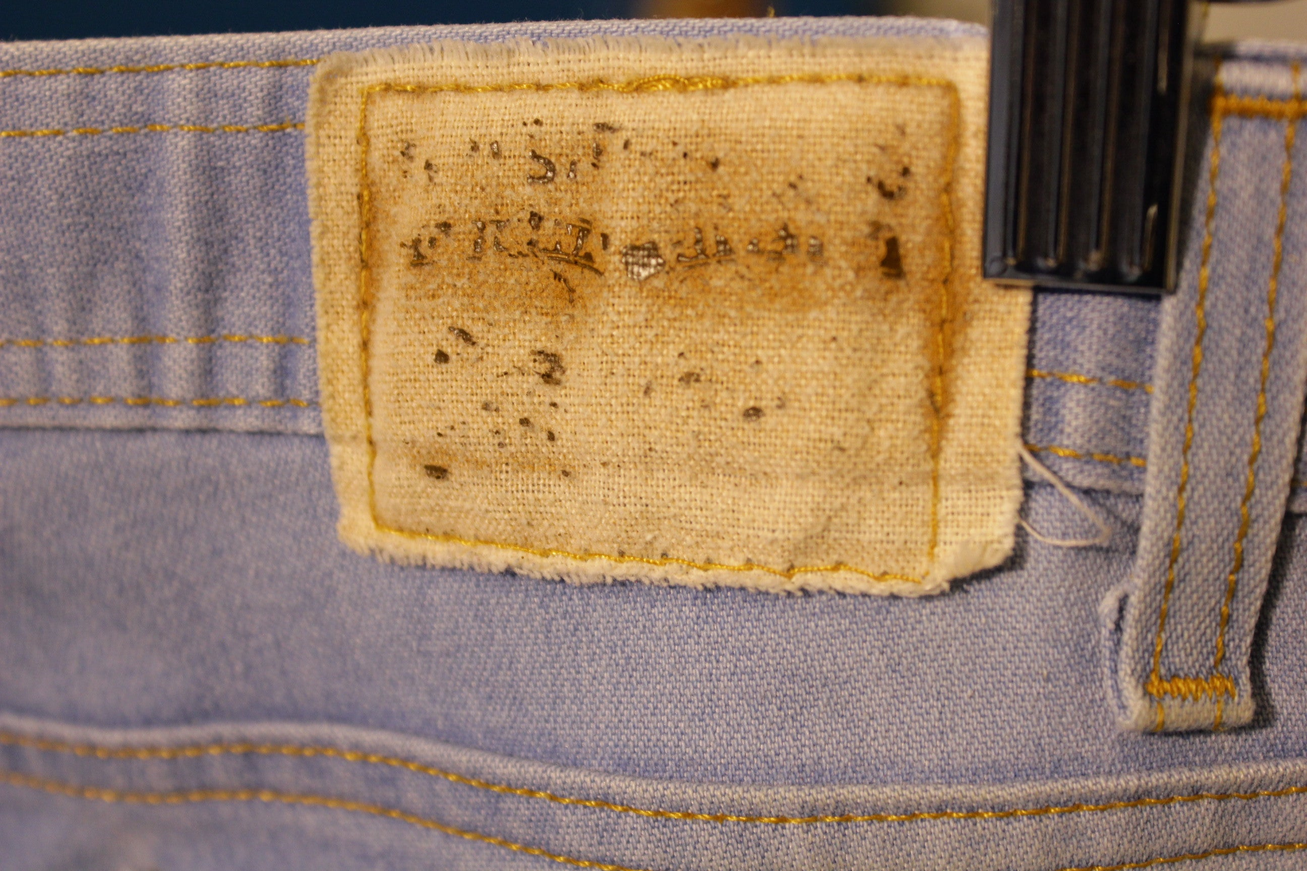"Levis Action Denim Vintage 1970's Jeans Made in USA  36.5"" x 27.5"""
