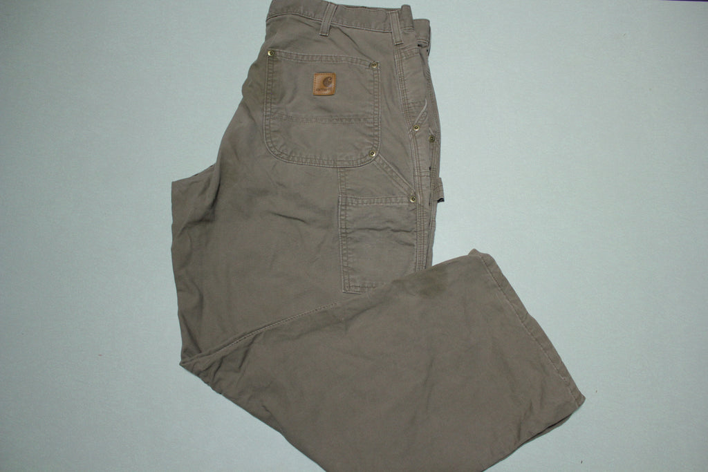 Carhartt B195 LBR Dungaree Fit Double Knee Carpenter Light Work Pants 36x26