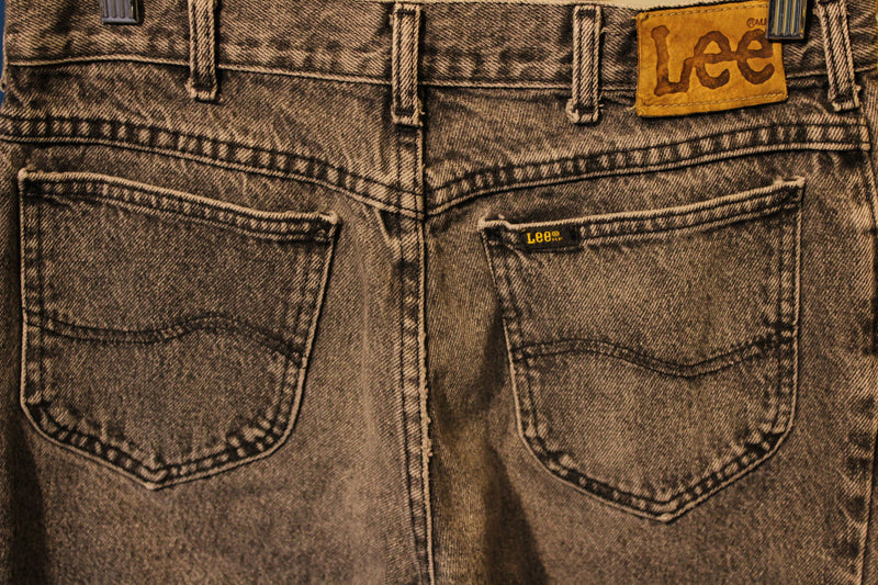Black Lee Riders Jeans Vintage Denim 1980's Made In USA 29.5 x 28.25