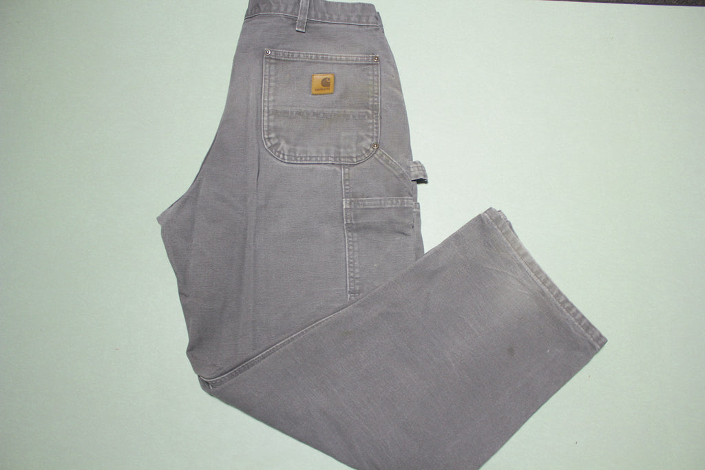 Carhartt B136 GVL Dungaree Fit Double Knee Carpenter Canvas Work Pants 34x29