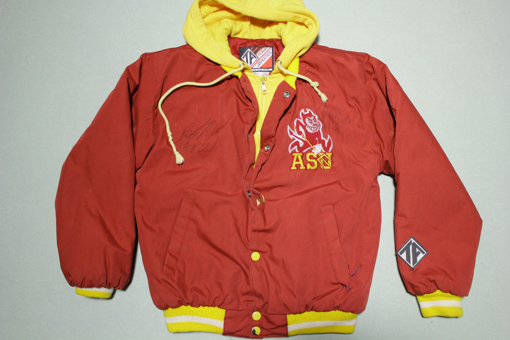 ASU Arizona State Vintage 90's Hoodie Hybrid Signed Team Jacket