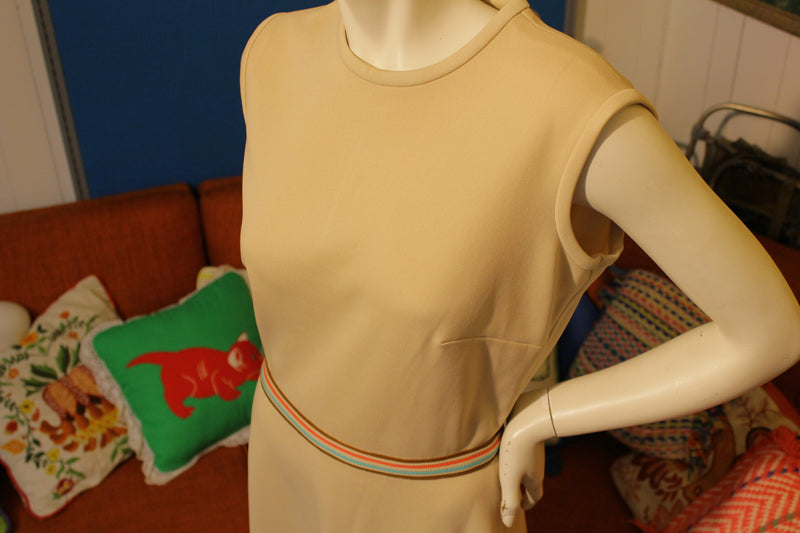 Sears Fashions Vintage Sleeveless Half Zip Dress. 1970s or 1980s