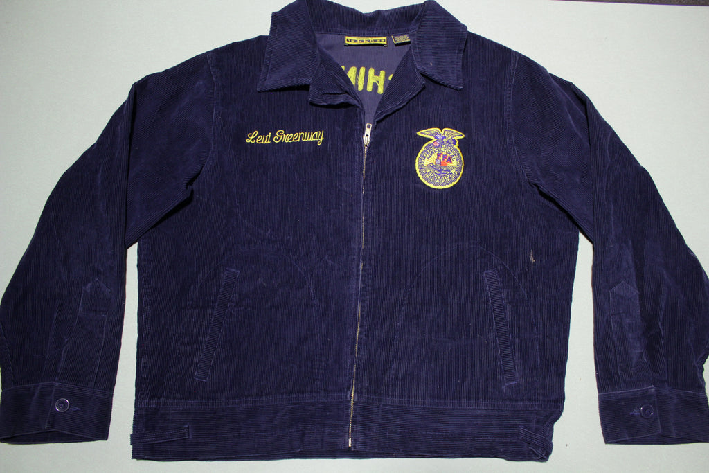 FFA Agricultural Education Vintage Washington Chelan Corduroy Farm Animal Jacket