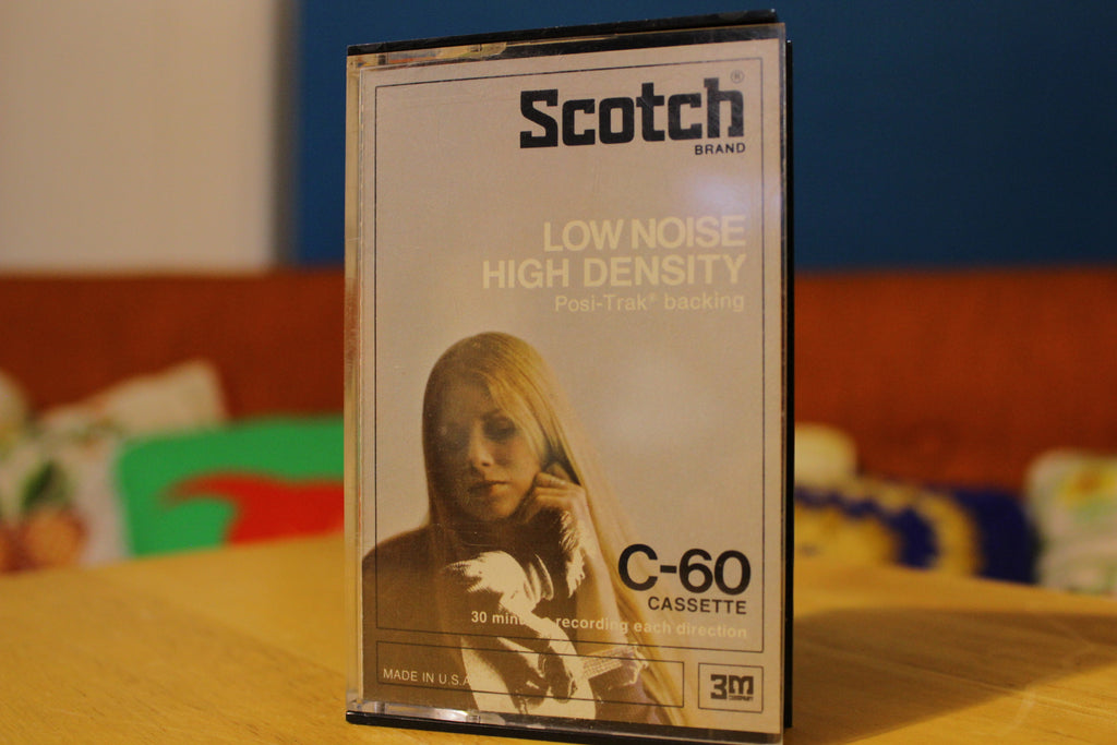 Scotch Low Noise High Density C-60 Vintage 1970s Blank Cassette Tapes.