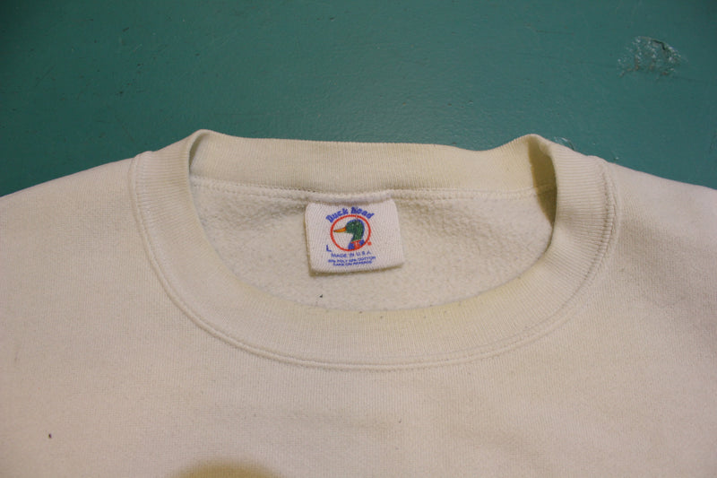 Duck Head Tail Double Sided Vintage USA 90's Crewneck Pullover Sweatshirt