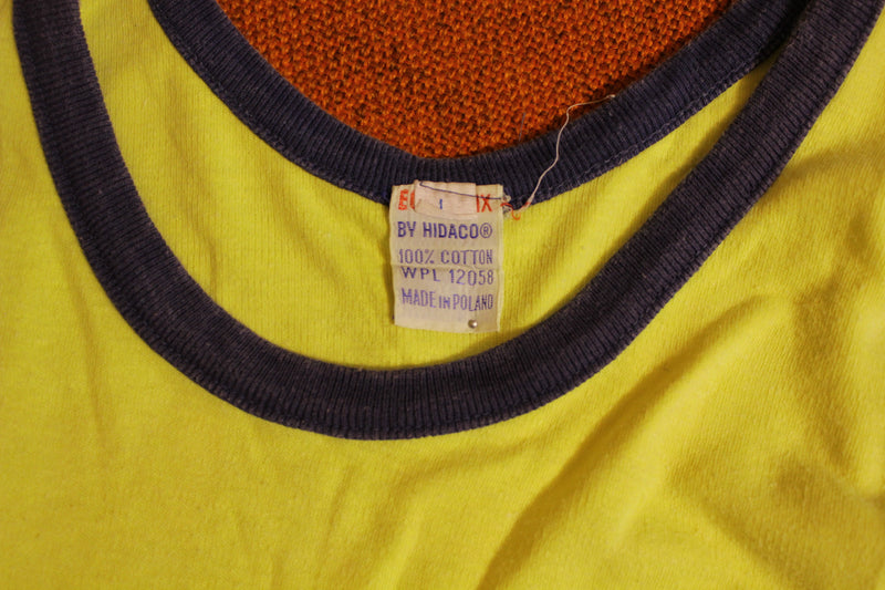 #33 Ego-Trix by Hidaco Vintage 80's 70's Yellow Tank Top