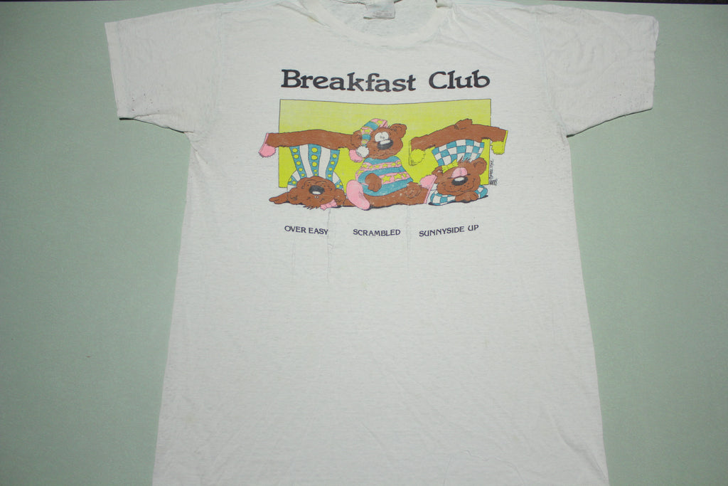 Breakfast Club Bears Vintage Over Easy 80's Funny Absurd Destroyed T-Shirt
