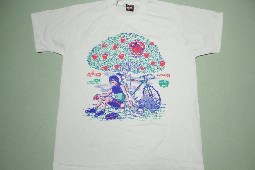 Born To Bike Oakley Dude Vintage 1994 90's Washington Apple T-Shirt