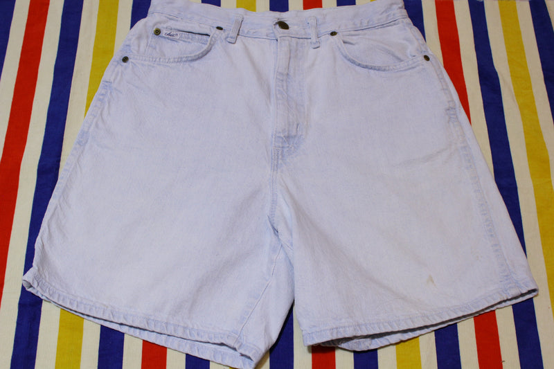 Chic Vintage Stone Washed High Waist Made in USA Jean Shorts Womens XL