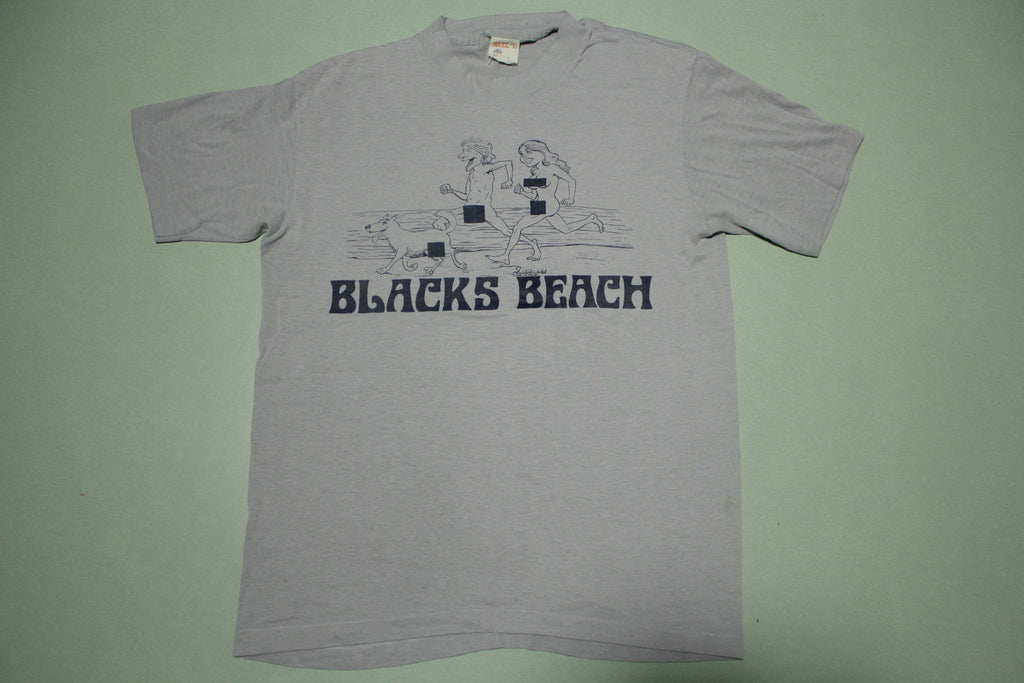 Blacks Beach Vintage 1980 Nudist Walsh Select-T USA T-Shirt