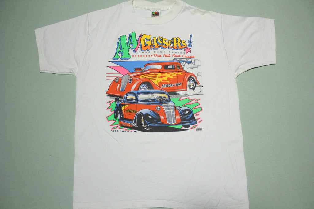 AA Gassers Hot Rod Drag Race 1999 Champ Vintage 90's T-Shirt