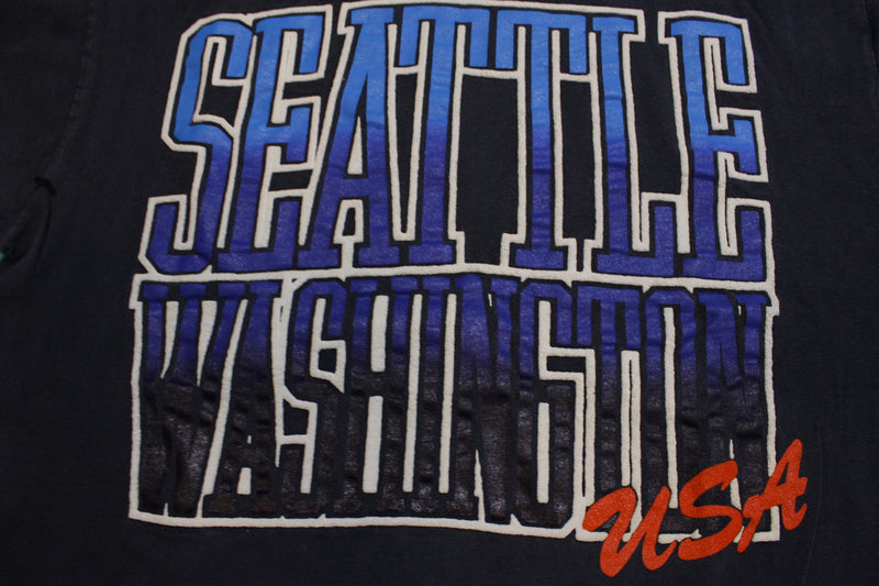 Seattle Washington Puff Print Single Stitch USA Vintage 80's T-Shirt