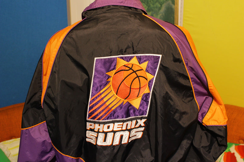 Mens Vintage 90's Pro Player By Daniel Young PHOENIX SUNS NBA Windbreaker, XL
