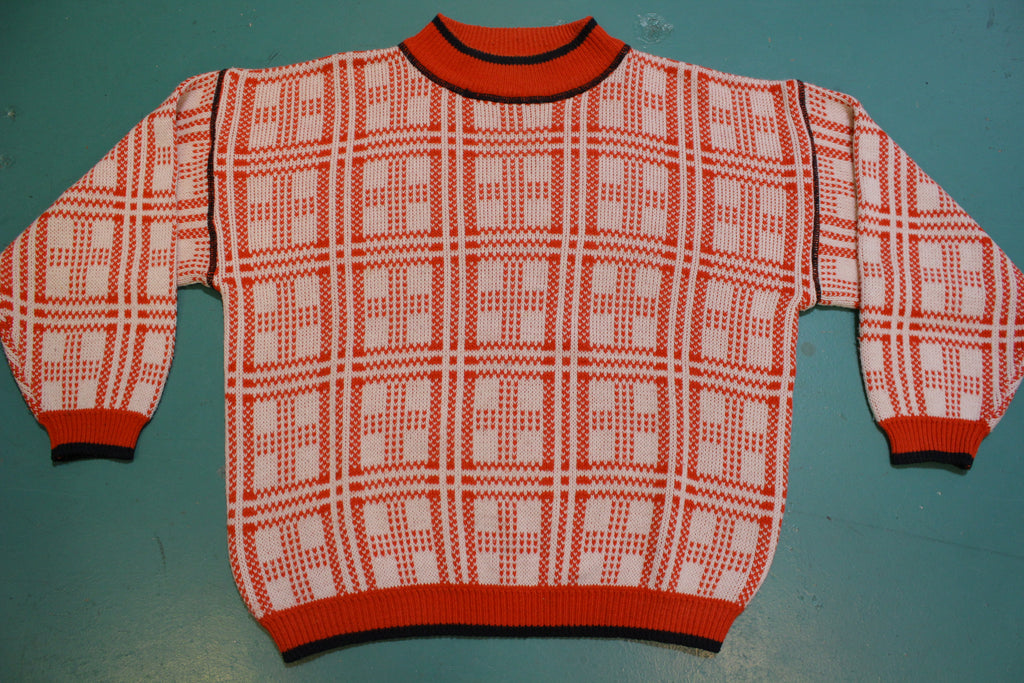 Exclusive Imports Vintage Geometrical Pattern 80's Winter Sweater