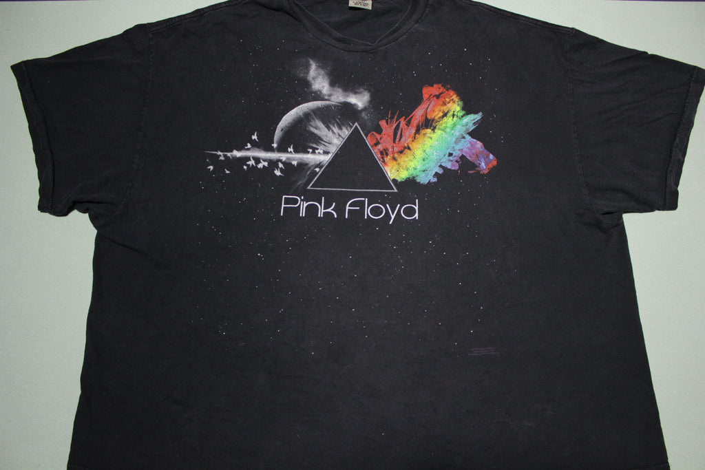 Pink Floyd Pyramid Dark Side of the Moon Liquid Blue Concert T-Shirt