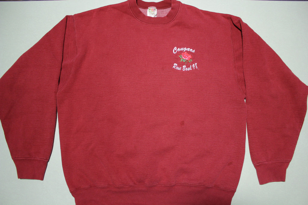 Rose Bowl 1998 Vintage 90's Washington State Cougars Heavyweight Crewneck Sweatshirt