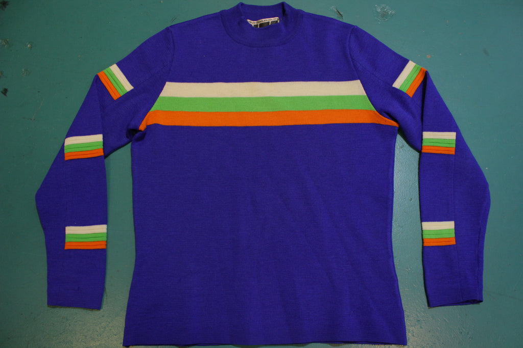 Henri Charles Colsenet HCC Swiss Made Geneva Striped 80's Ski Sweater
