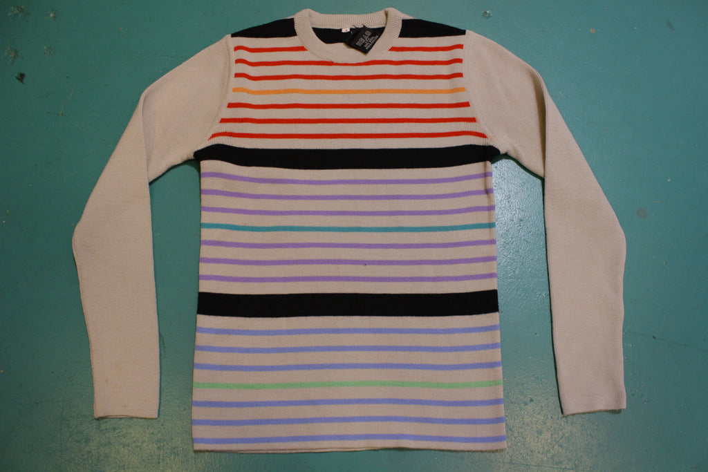 Head Made in USA Vintage 100% Wool Striped 80's Ski Sweater
