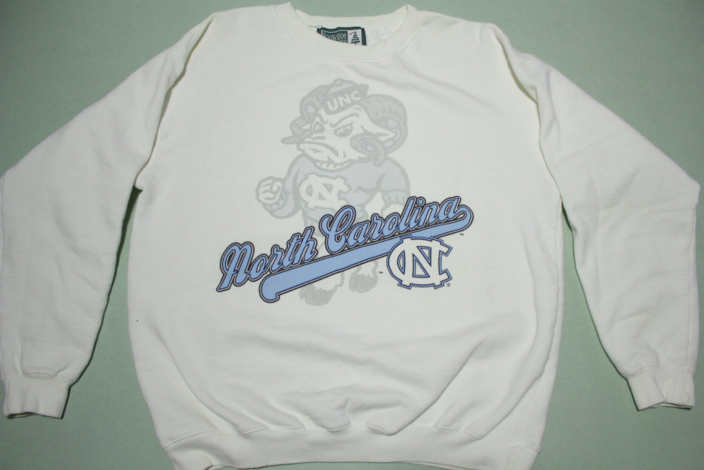 North Carolina Tarheels UNC Vintage 90's Heavyweight Crewneck Collegiate Sweatshirt