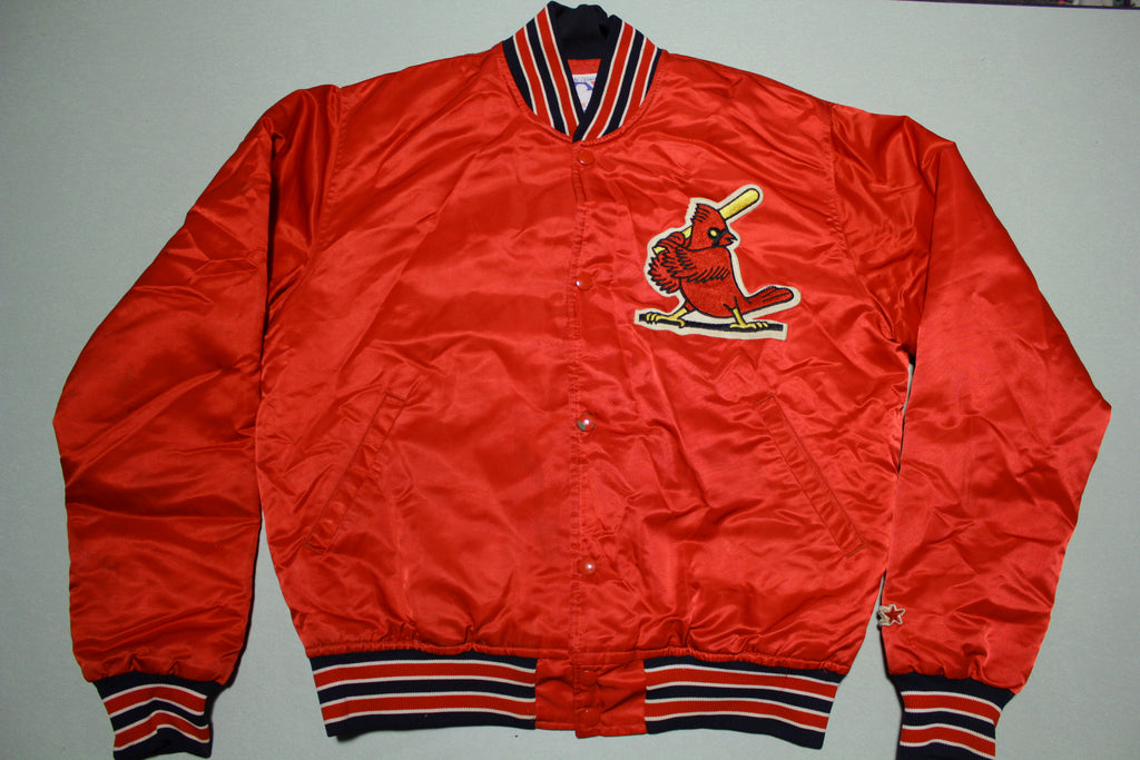 St. Louis Cardinals Vintage 80's Satin Made In USA Starter Bomber Jacket