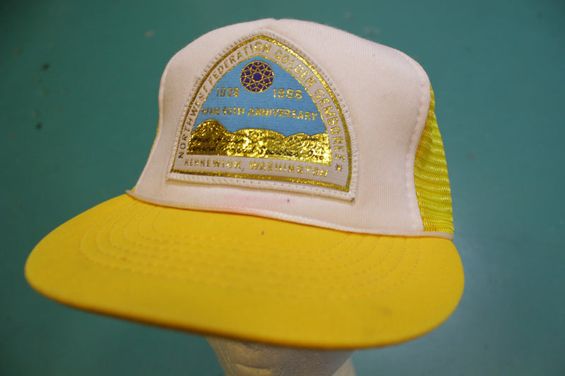 Northwest Federation Golden Gemboree Kennewick 80's Vintage Snapback Trucker Cap