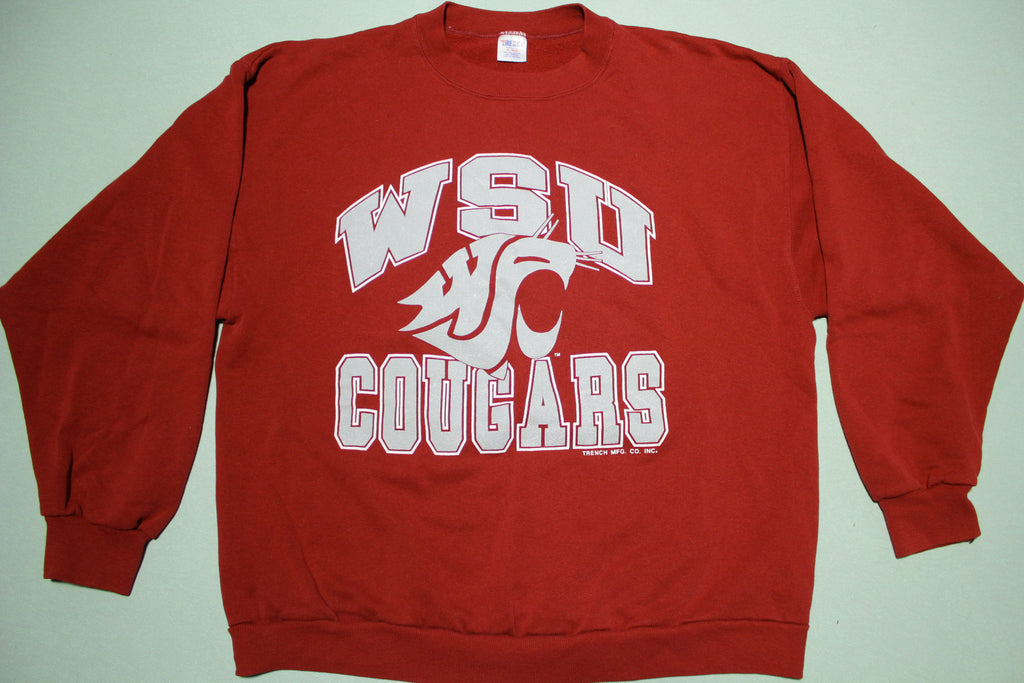 WSU Cougars Vintage 90's Trench Made in USA Crewneck Sweatshirt