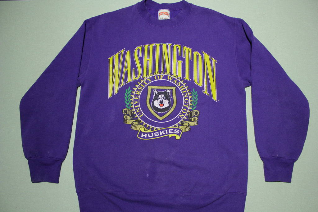 University of Washington Huskies Vintage 90's Nutmeg USA Crewneck Sweatshirt