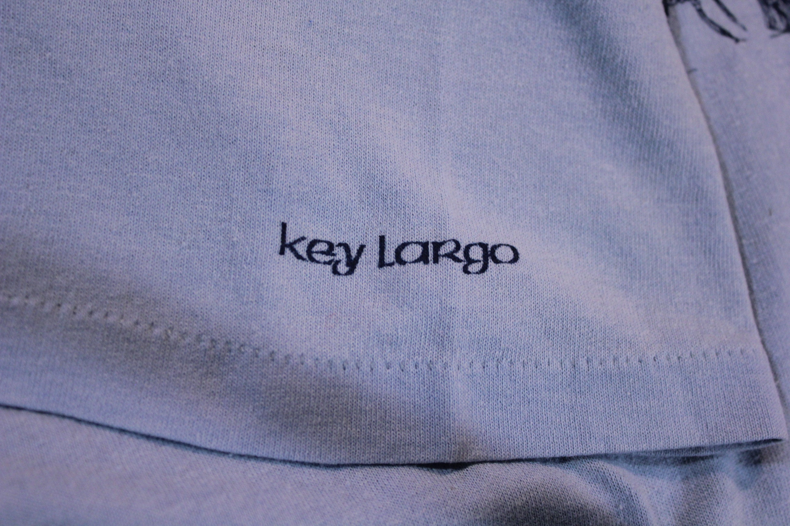 Key Largo Oh Shit 80's Vintage T-Shirt Cotton Blend Jerzees Medium 1985 Lobsters