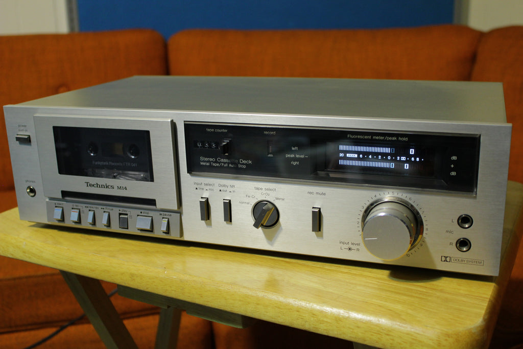 Technics Silverface M-14 Cassette Deck Player Recorder Stereo Dub 1980