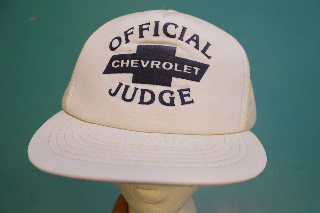 Official Chevrolet Judge Chevy Muscle Car Vintage Snapback Trucker Cap Hat