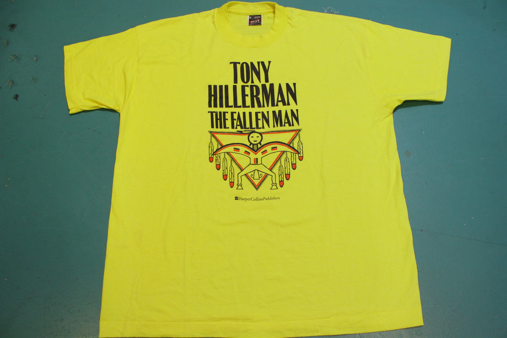 Tony Hillerman Fallen Man Harper Collins Publishers Vintage 90's Single Stitch T-Shirt