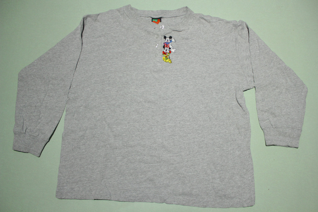 Mickey Unlimited Vintage Embroidered Minnie Pluto Disney Hensley T-Shirt