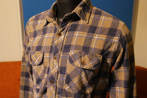 Timber Run Lumberjack Flannel Shirt. Vintage Men's Long Sleeve.