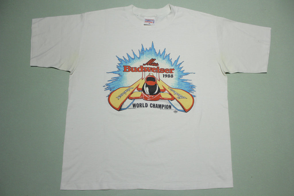 Miss Budweiser Vintage 1988 World Champion Hydroplane Racing T-Shirt