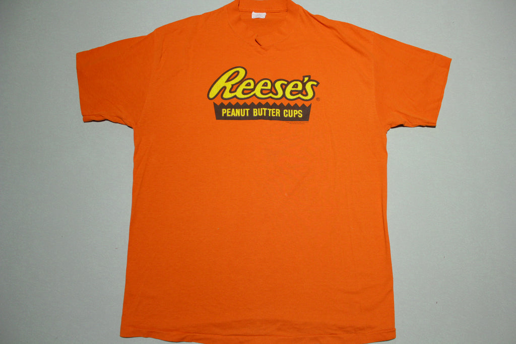 Reese's Peanut Butter Cups Vintage 80's Single Stitch USA Snack Promo T-Shirt