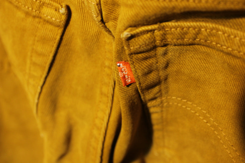 Levis Red Tab Brown 550 Made in USA Jeans Vintage 1980's Unique Color