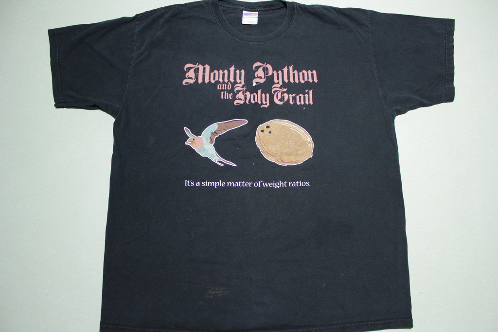 Monty Python Holy Grail Weight Ratios 2000's Movie Promo T-Shirt