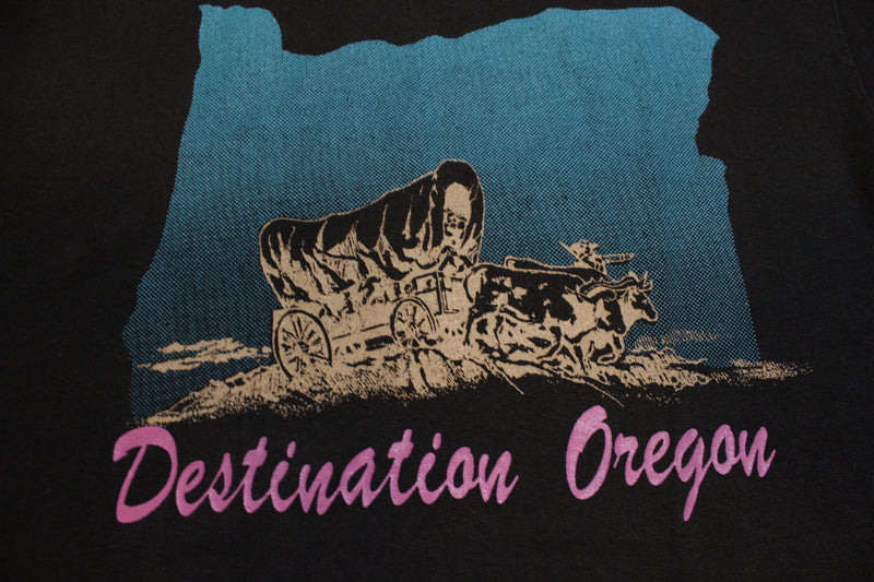 Destination Oregon Wagon Trail Frontier Single Stitch 80's Vintage T-shirt