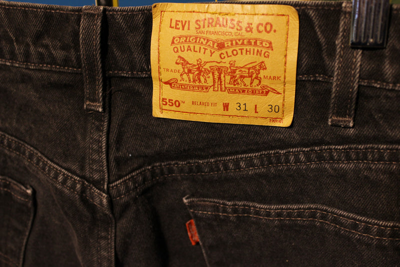 Levis Red Tab 550 80s Made In USA Jeans. Men's Waist 30 Black Relaxed Fit